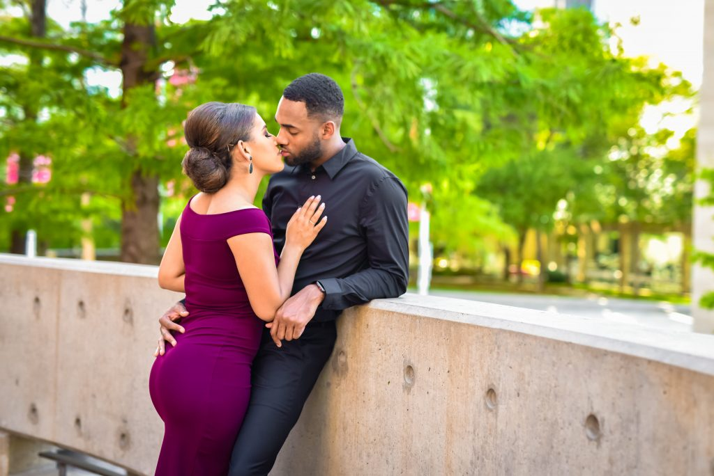 Dallas-Black-Wedding-Photographer – Museum District – Engagement Session