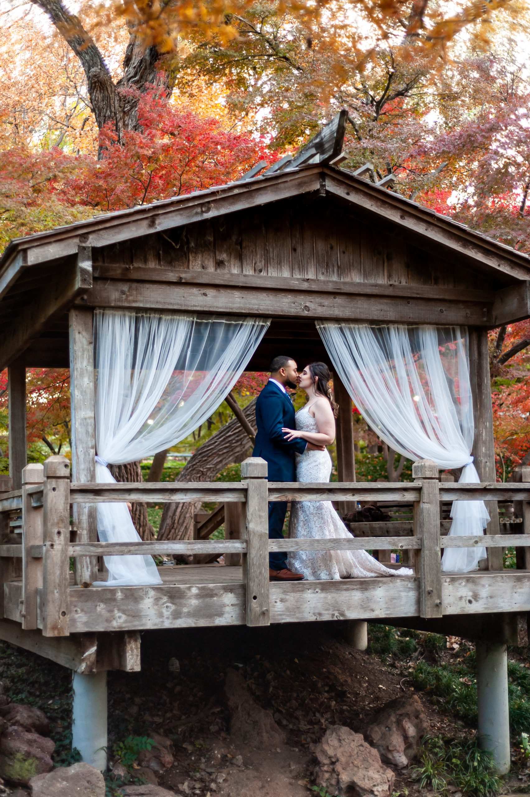 Fort Worth Botanical Gardens Wedding Japanese Garden